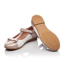 Детские туфлі Woopy Orthopedic пудровые для девочек натуральная кожа и нубук размер - (4101) Фото 2