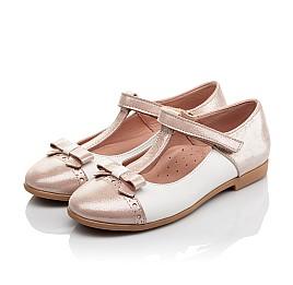Детские туфлі Woopy Orthopedic пудровые для девочек натуральная кожа и нубук размер - (4101) Фото 3
