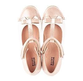 Детские туфли Woopy Orthopedic пудровые для девочек натуральная кожа и нубук размер 36-36 (4101) Фото 5