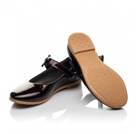 Детские туфли Woopy Orthopedic бордовые для девочек натуральная лаковая кожа размер 30-36 (4102) Фото 2