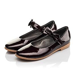 Детские туфли Woopy Orthopedic бордовые для девочек натуральная лаковая кожа размер 30-36 (4102) Фото 3