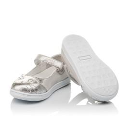 Детские туфли Woopy Orthopedic серебряные для девочек  натуральная кожа размер 19-24 (4103) Фото 2