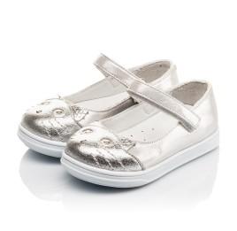 Детские туфли Woopy Orthopedic серебряные для девочек  натуральная кожа размер 19-24 (4103) Фото 3
