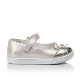 Детские туфли Woopy Orthopedic серебряные для девочек  натуральная кожа размер 19-24 (4103) Фото 4