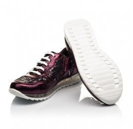 Детские кроссовки Woopy Orthopedic фиолетовые для девочек натуральная кожа размер 33-36 (4105) Фото 2
