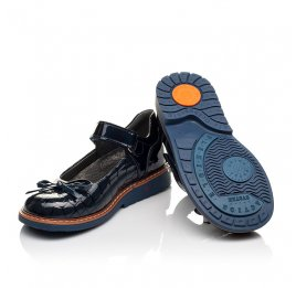 Детские туфли ортопедические Woopy Orthopedic синие для девочек натуральная лаковая кожа размер 28-36 (4110) Фото 2