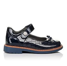 Детские туфли ортопедические Woopy Orthopedic синие для девочек натуральная лаковая кожа размер 28-36 (4110) Фото 4
