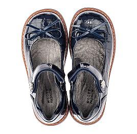 Детские туфли ортопедические Woopy Orthopedic синие для девочек натуральная лаковая кожа размер 28-36 (4110) Фото 5
