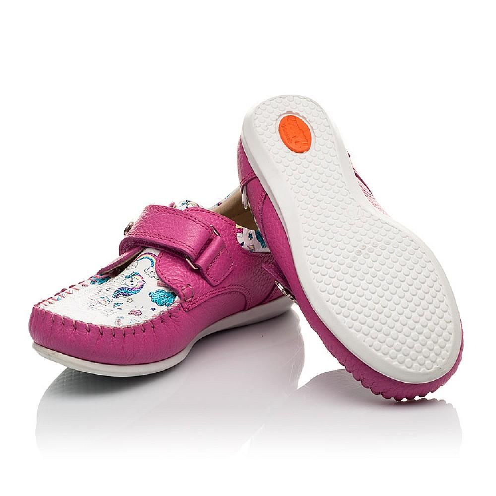 Детские мокасины Woopy Orthopedic малиновые для девочек натуральный нубук и кожа размер 21-30 (4112) Фото 2