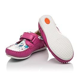 Детские мокасины Woopy Orthopedic малиновые для девочек натуральный нубук и кожа размер 21-26 (4112) Фото 2