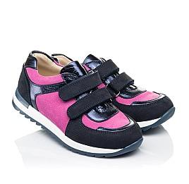 Детские кроссовки Woopy Orthopedic темно-синие для девочек натуральный нубук размер 36-36 (4113) Фото 1