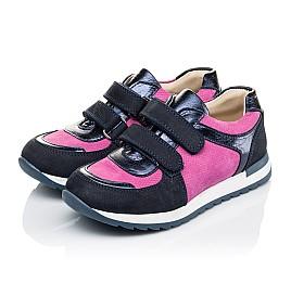 Детские кроссовки Woopy Orthopedic темно-синие для девочек натуральный нубук размер 36-36 (4113) Фото 3