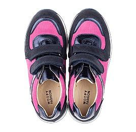 Детские кроссовки Woopy Orthopedic темно-синие для девочек натуральный нубук размер 36-36 (4113) Фото 5