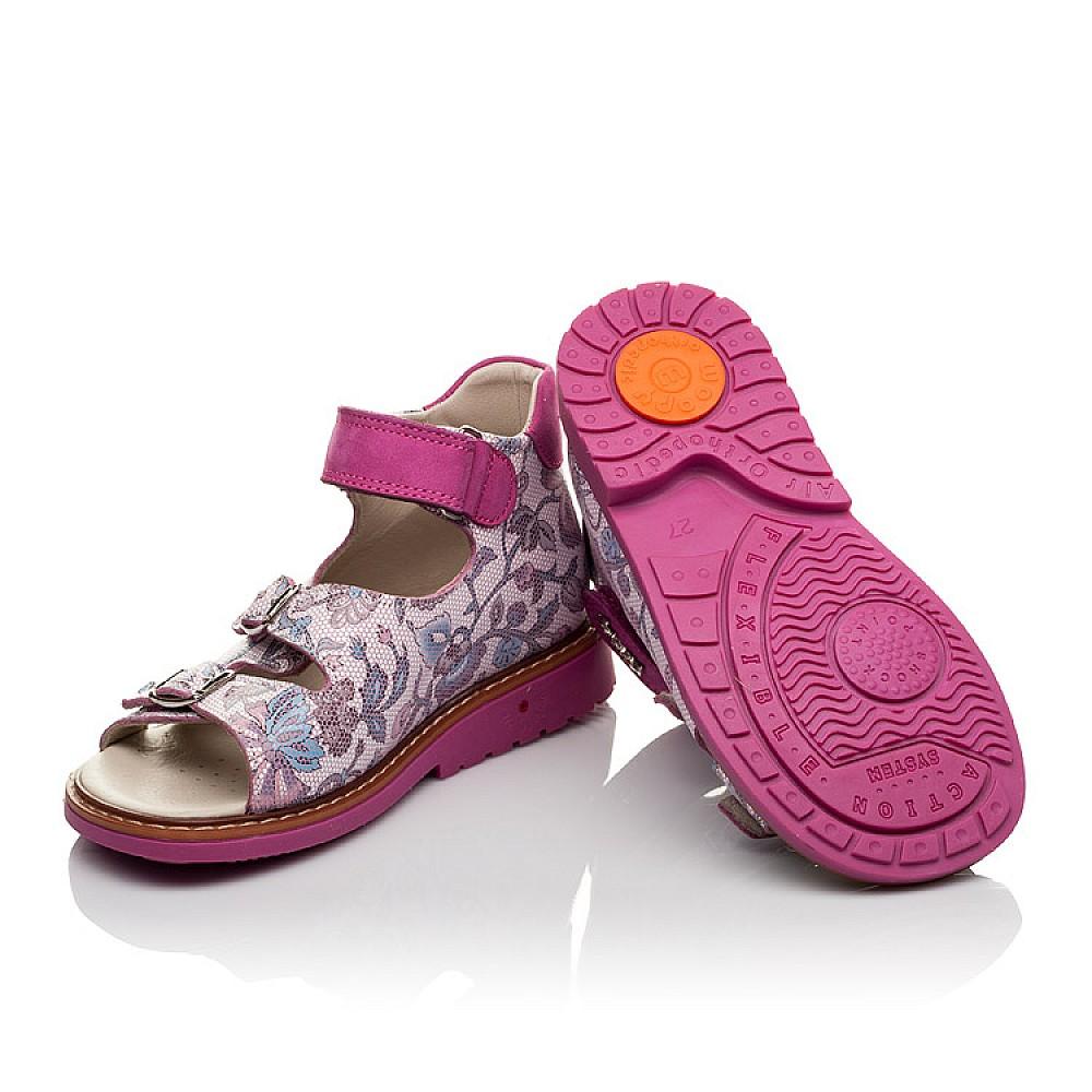 Детские босоножки Woopy Orthopedic розовые для девочек натуральная кожа размер 21-36 (4114) Фото 2