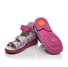 Детские босоножки Woopy Orthopedic розовые для девочек натуральная кожа размер 21-25 (4114) Фото 2