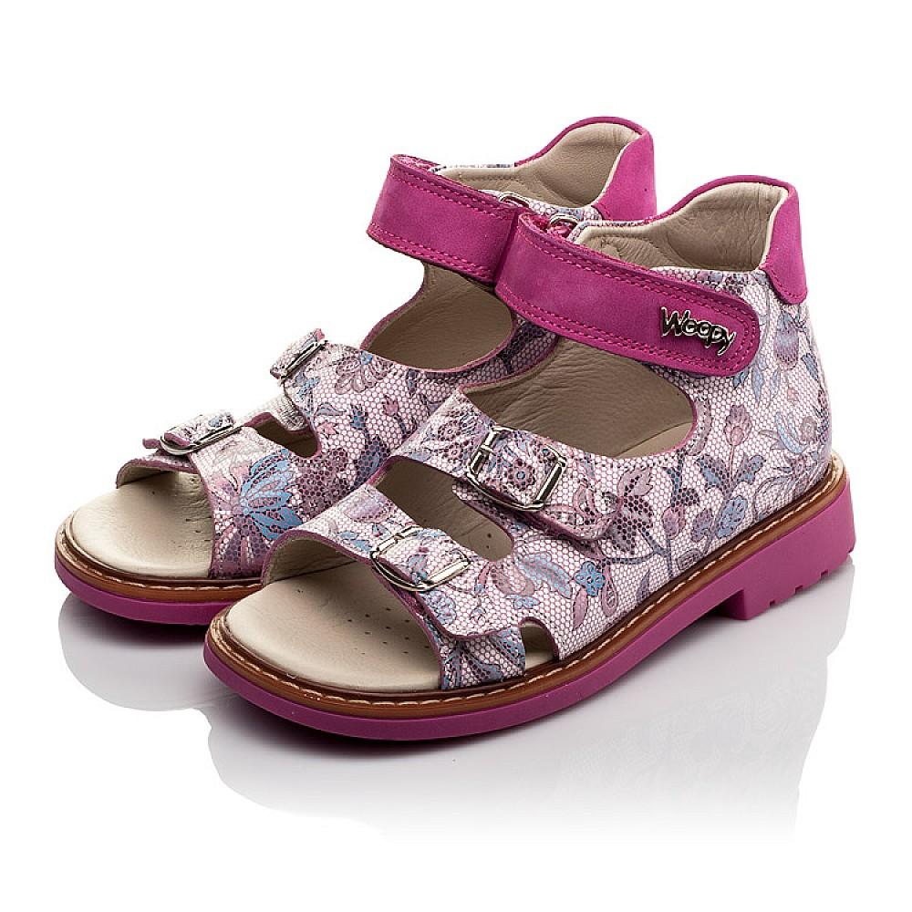 Детские босоножки Woopy Orthopedic розовые для девочек натуральная кожа размер 21-36 (4114) Фото 3