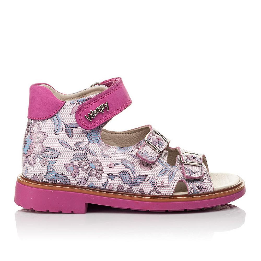 Детские босоножки Woopy Orthopedic розовые для девочек натуральная кожа размер 21-36 (4114) Фото 4