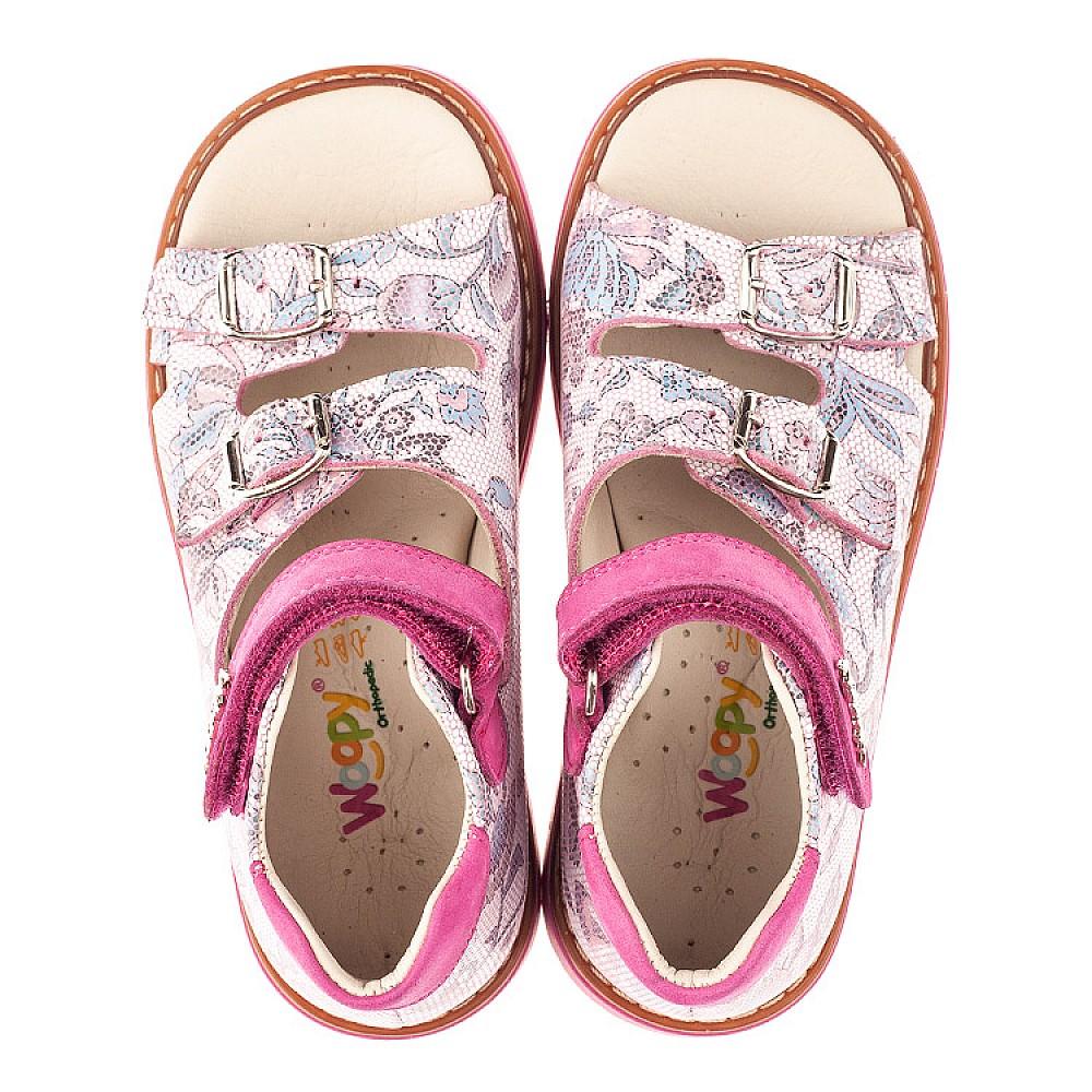 Детские босоножки Woopy Orthopedic розовые для девочек натуральная кожа размер 21-36 (4114) Фото 5