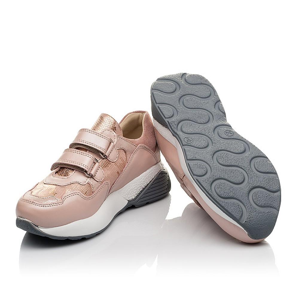 Детские кроссовки Woopy Orthopedic пудровые для девочек натуральная кожа размер 28-35 (4116) Фото 2