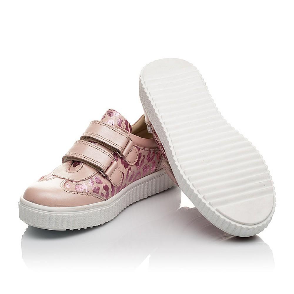 Детские кеды Woopy Orthopedic розовые для девочек натуральная кожа размер 26-40 (4117) Фото 2