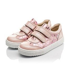 Детские кеды Woopy Orthopedic розовые для девочек  натуральная кожа размер 28-40 (4117) Фото 3