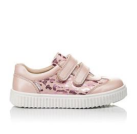 Детские кеды Woopy Orthopedic розовые для девочек  натуральная кожа размер 28-40 (4117) Фото 4