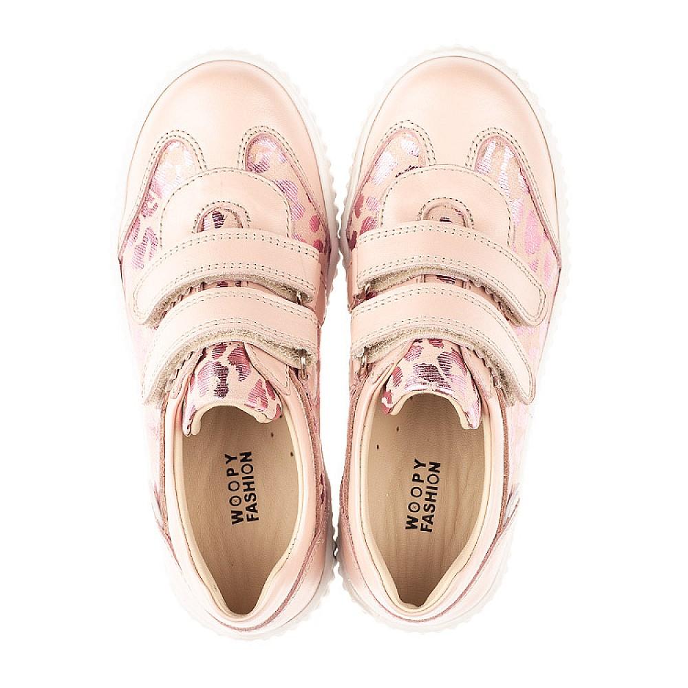 Детские кеды Woopy Orthopedic розовые для девочек натуральная кожа размер 26-40 (4117) Фото 5