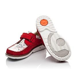 Детские мокасины Woopy Orthopedic красные для девочек натуральная кожа и нубук размер - (4119) Фото 2