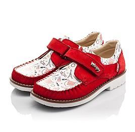 Детские мокасины Woopy Orthopedic красные для девочек натуральная кожа и нубук размер - (4119) Фото 3