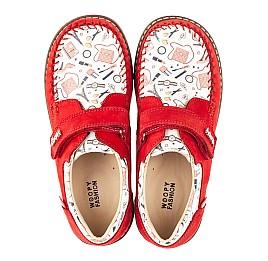 Детские мокасины Woopy Orthopedic красные для девочек натуральная кожа и нубук размер - (4119) Фото 5