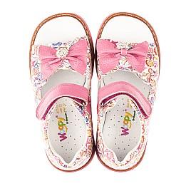Детские ортопедические босоножки Woopy Orthopedic розовые для девочек натуральная кожа размер 18-26 (4120) Фото 5