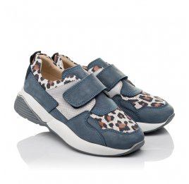 Детские кроссовки Woopy Orthopedic синие для девочек натуральный нубук размер 31-34 (4121) Фото 1