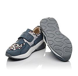 Детские кроссовки Woopy Orthopedic синие для девочек натуральный нубук размер 31-34 (4121) Фото 2