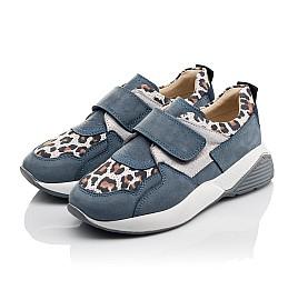 Детские кроссовки Woopy Orthopedic синие для девочек натуральный нубук размер 31-34 (4121) Фото 3