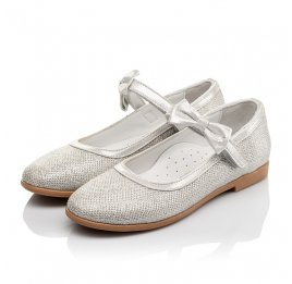 Детские туфли Woopy Orthopedic серебряные для девочек современный искусственный материал размер 29-35 (4123) Фото 3