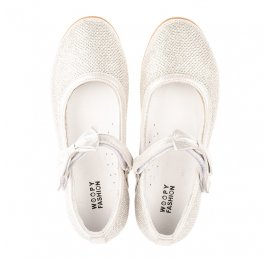 Детские туфли Woopy Orthopedic серебряные для девочек современный искусственный материал размер 29-35 (4123) Фото 5
