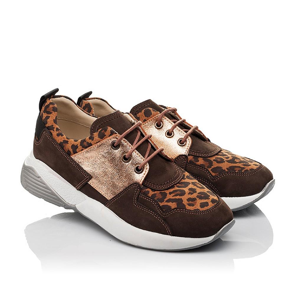 Детские кроссовки Woopy Orthopedic коричневые для девочек натуральный нубук размер 35-39 (4124) Фото 1