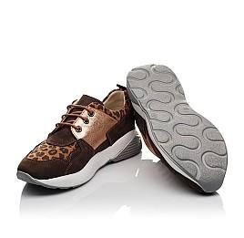 Детские кроссовки Woopy Orthopedic коричневые для девочек натуральный нубук размер 35-39 (4124) Фото 2
