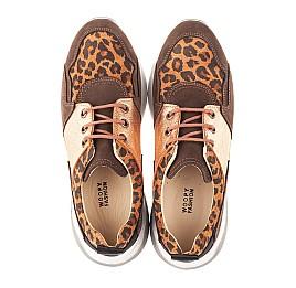 Детские кроссовки Woopy Orthopedic коричневые для девочек натуральный нубук размер 35-39 (4124) Фото 5