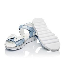 Детские босоножки Woopy Orthopedic голубые для девочек натуральный нубук размер 32-35 (4125) Фото 2