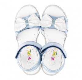 Детские босоножки Woopy Orthopedic голубые для девочек натуральный нубук размер 32-35 (4125) Фото 5