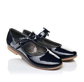 Детские туфли Woopy Orthopedic темно-синие для девочек натуральная лаковая кожа размер 30-36 (4128) Фото 1