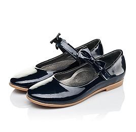 Детские туфли Woopy Orthopedic темно-синие для девочек натуральная лаковая кожа размер 30-36 (4128) Фото 2
