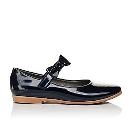 Детские туфли Woopy Orthopedic темно-синие для девочек натуральная лаковая кожа размер 30-36 (4128) Фото 3
