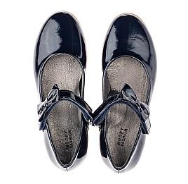 Детские туфли Woopy Orthopedic темно-синие для девочек натуральная лаковая кожа размер 30-36 (4128) Фото 4
