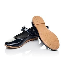 Детские туфли Woopy Orthopedic темно-синие для девочек натуральная лаковая кожа размер 30-36 (4128) Фото 5