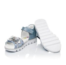 Детские босоножки Woopy Orthopedic голубые для девочек натуральный нубук размер 26-36 (4130) Фото 2