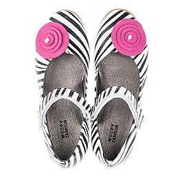 Детские туфли Woopy Orthopedic белые для девочек натуральная кожа размер 31-33 (4131) Фото 5