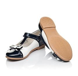 Детские туфли-балетки кожа Woopy Orthopedic темно-синие для девочек натуральная лаковая кожа размер 28-35 (4132) Фото 2