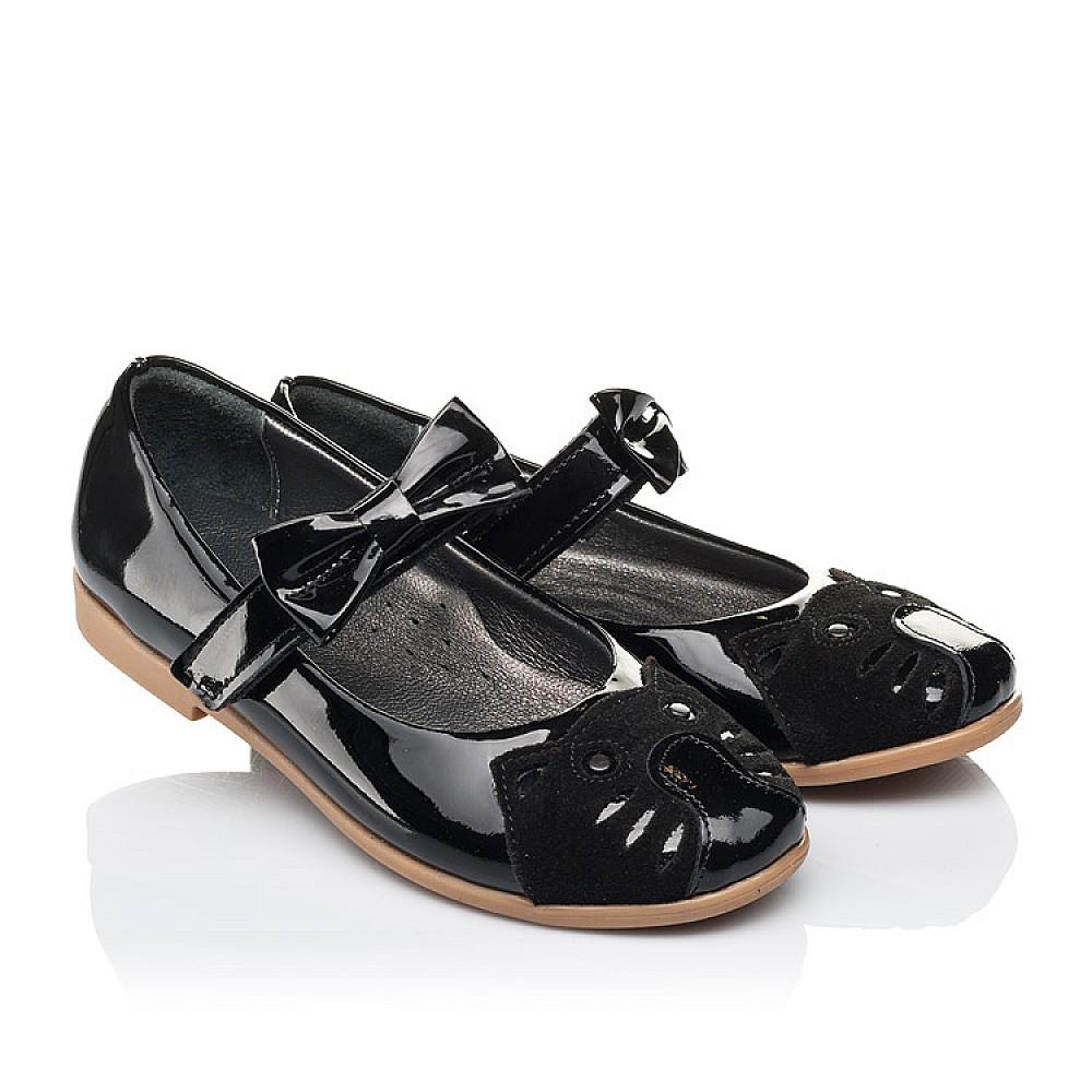 Детские туфли Woopy Orthopedic черные для девочек натуральная лаковая кожа размер 26-36 (4133) Фото 1